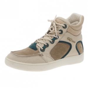 Alexander McQueen Beige Suede Joust III Sneakers Size 42