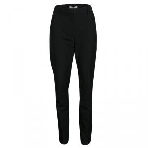 Alexander Wang Black Wool Zip Detail Tapered Cigarette Pants S