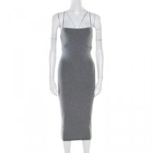 T By Alexander Wang Heather Grey Strappy Tank Dress XS
