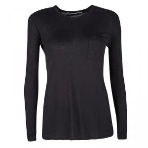 T by Alexander Wang Black Jersey Long Sleeve T-Shirt XS