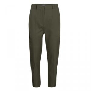 T By Alexander Wang Olive Green High Waist Cropped Pants S