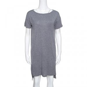 T by Alexander Wang Grey Cotton Short Sleeve T-Shirt Dress S
