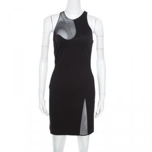 Alexander Wang Black Mesh Insert Bodycon Dress M