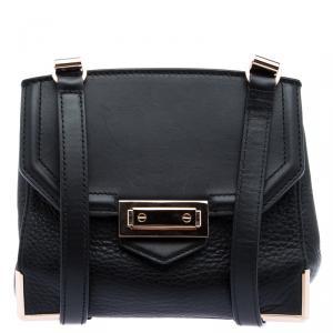 Alexander Wang Black Pebbled Leather Marion Crossbody Bag
