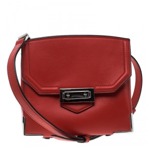 Alexander Wang Red Leather Small Marion Shoulder Bag