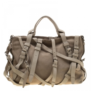 Alexander Wang Beige Suede and Leather Kristen Tote