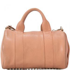 Alexander Wang Light Brown Leather Rockie Boston Bag