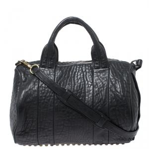 Alexander Wang Black Leather Rocco Duffel Bag