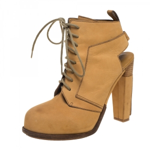 Alexander Wang Tan Nubuck Dakota Lace Up Ankle Boots Size 38 - used