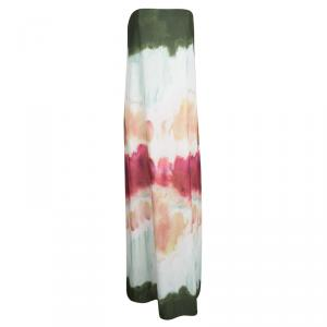 Alice + Olivia Watercolor Strapless Yullisa Maxi Dress M