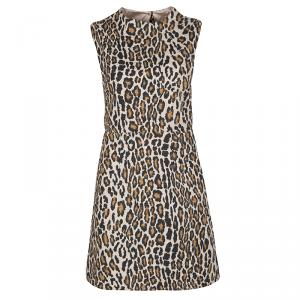 Alice + Olivia Leopard Print Cutout Sleeveless Dress M