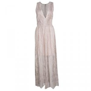 Alice + Olivia Blush Pink Floral Lace Julissa Maxi Dress L