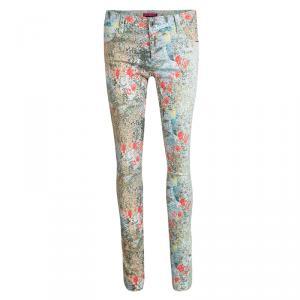 Alice + Olivia Multicolor Floral Printed Skinny Jeans S
