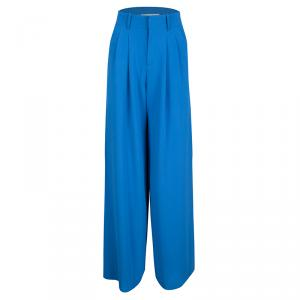 Alice + Olivia Blue Pleated High Waist Palazzo Pants XS