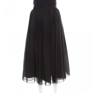 Alice + Olivia Black Studded Andalasia Princess Pouffe Skirt L