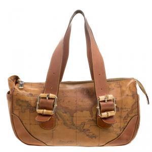 حقيبة كتف الفييرو مارتيني 1A كلاس كانفاس مقوى طباعة كلاسيك جغرافية