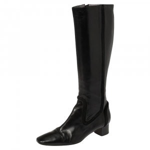 Anya Hindmarch Black Length Calf Length Boots Size 38