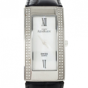 Aquamarin Avalon Stainless Steel Diamond Womens Wristwatch 30 MM