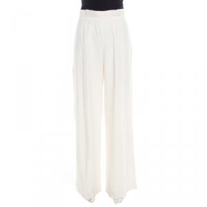 Armani Collezioni Cream Linen Wide Leg Pants M