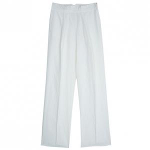 Armani Collezioni Off-White Linen Trousers M