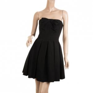 Armani Exchange Black Taffeta Strapless Dress