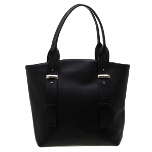 Baldinini Black Leather Tote