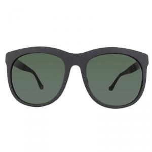 Balenciaga Matt Black/Green BA0024F Wayfarer Sunglasses
