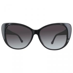 Balenciaga Shiny Black/Gradient Smoke BA0016F Cat Eye Sunglasses