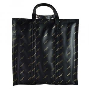 Balenciaga Black Leather Bazar Shopper Tote Bag