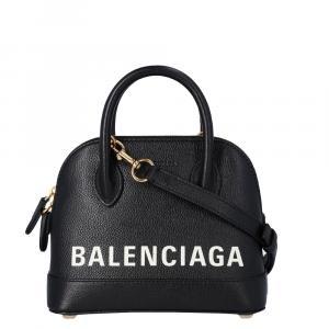 Balenciaga Black Leather Ville Top handle Bag