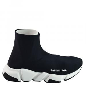 Balenciaga Black Stretch Tess Sneakers Size EU 38