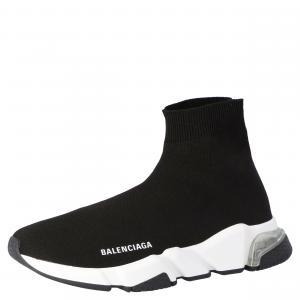 Balenciaga Black Speed Clear Sole Sneaker Size EU 38