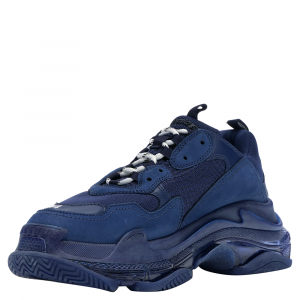 Balenciaga Triple S Clear Sole Navy Sneakers Size EU 42