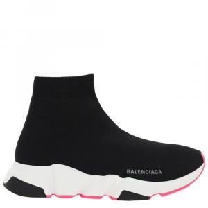 Balenciaga Black/Pink Speed Sneakers Size IT 38