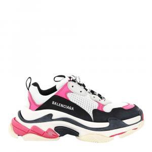 Balenciaga Pink/White/Black Triple S Sneakers Size IT 38
