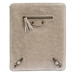 Balenciaga Dark Beige Leather iPad Cover