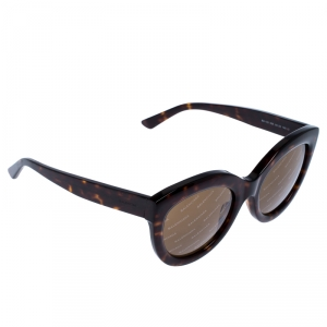 Balenciaga Brown Tortoise Gradient Logomania Cateye Sunglasses