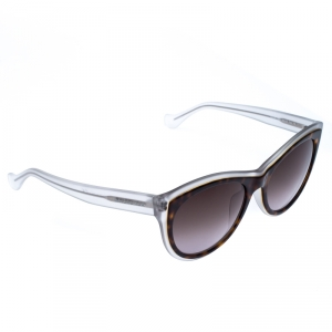 Balenciaga White/Brown BA 65 58B Cateye Sunglasses