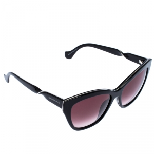 Balenciaga Black Gradient Twisted Temple Cat Eye Sunglasses