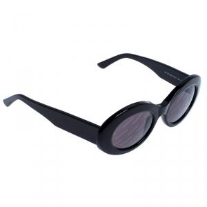 Balenciaga Black Logomania Oval Sunglasses