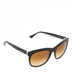 Balenciaga Black/Brown Gradient BA0024 04F Cat Eye Sunglasses