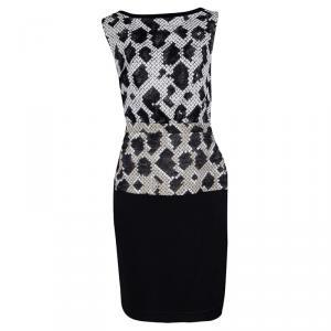 Balenciaga Black Pixelated Snake Pattern Sleeveless Sheath Dress M used