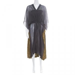 Balenciaga Multicolor Printed Layered Kaftan Dress M