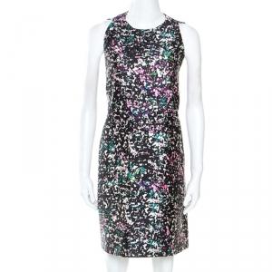 Balenciaga Multicolor Printed Silk Blend Trapeze Dress M - used