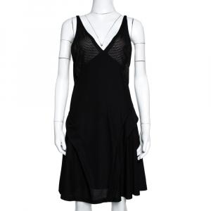 Balenciaga Black Knit Perforated Detail Sleeveless Dress L - used