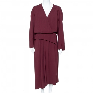 Balenciaga Burgundy Evening Crepe Gown M - used