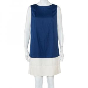 Balenciaga Color Block Silk Sleeveless Shift Dress M - used