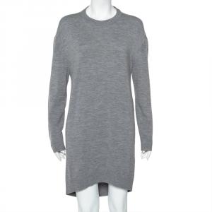 Balenciaga Grey Wool & Cashmere Oversized Sweater Dress M - used