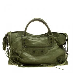 حقيبة يد بالنسياغا كلاسيك سيتي RH جلد تركواز