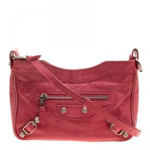 Balenciaga Rose Thulian Leather RH Hip Crossbody Bag